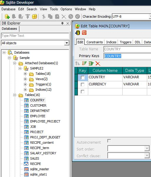 Click to view SQLite Developer 3.92 screenshot